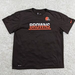 Nike Cleveland Browns T-Shirt Men 2XL Dri-Fit A18